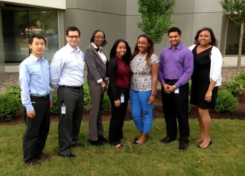 Students and new graduates of Delaware State University start a summer internship program at Sallie ...