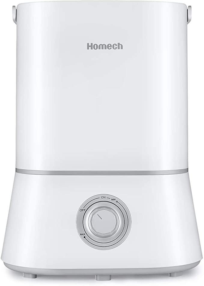 "<strong>The Easy-Fill Humidifier</strong><br>This humidifier uses ultrasonic technology for super quiet functionality. It also features a 4L tank capacity, which can last up to 50 hours of use, and adjustable misting options.<br><br><strong>The Hype:</strong> 4.7 out of 5 stars on <a href=""https://amzn.to/3lVFhwh"" rel=""nofollow noopener"" target=""_blank"" data-ylk=""slk:Amazon"" class=""link rapid-noclick-resp"">Amazon</a>.<br><br><strong>Air Aficionados Say:</strong> ""I love the 4L capacity which means I only have to refill the reservoir every other day or longer depending the strength of the mist I select. I leave it running for around 15 hours each day. It has a large opening to allow easy refilling. The all white design has a clean and modern look and matches with any room. The 360 degree nozzle is helpful if I want to shift the mist to other plants. The handle also makes it easy to carry the reservoir over to the sink."" — Amazon Customer, Amazon Review<br><br><strong>homech</strong> Cool Mist Humidifier, 26dB, $, available at <a href=""https://amzn.to/3nsAUsO"" rel=""nofollow noopener"" target=""_blank"" data-ylk=""slk:Amazon"" class=""link rapid-noclick-resp"">Amazon</a>"