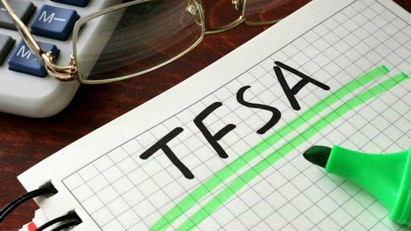 IMAGE OF A NOTEBOOK WITH TFSA WRITTEN ON IT