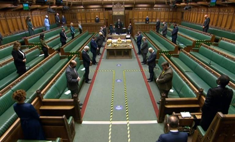 MPs bow their heads in the House of Commons in tribute to Captain Tom Moore