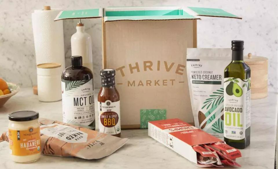 """<a href=""""https://fave.co/30Qp57J"""" target=""""_blank"""" rel=""""noopener noreferrer"""">Thrive Market</a> lets you schedule deliveries and stock up on natural and organic products, like healthy snacks, clean beauty, supplements and nontoxic cleaning supplies.<br /><br />Check out <a href=""""https://fave.co/30Qp57J"""" target=""""_blank"""" rel=""""noopener noreferrer"""">Thrive Market's membership</a>."""