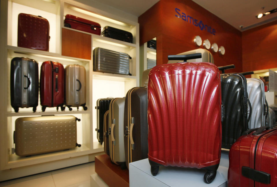 The luggage giant Samsonite sources 80% of products from China. (AP Photo/Kin Cheung)