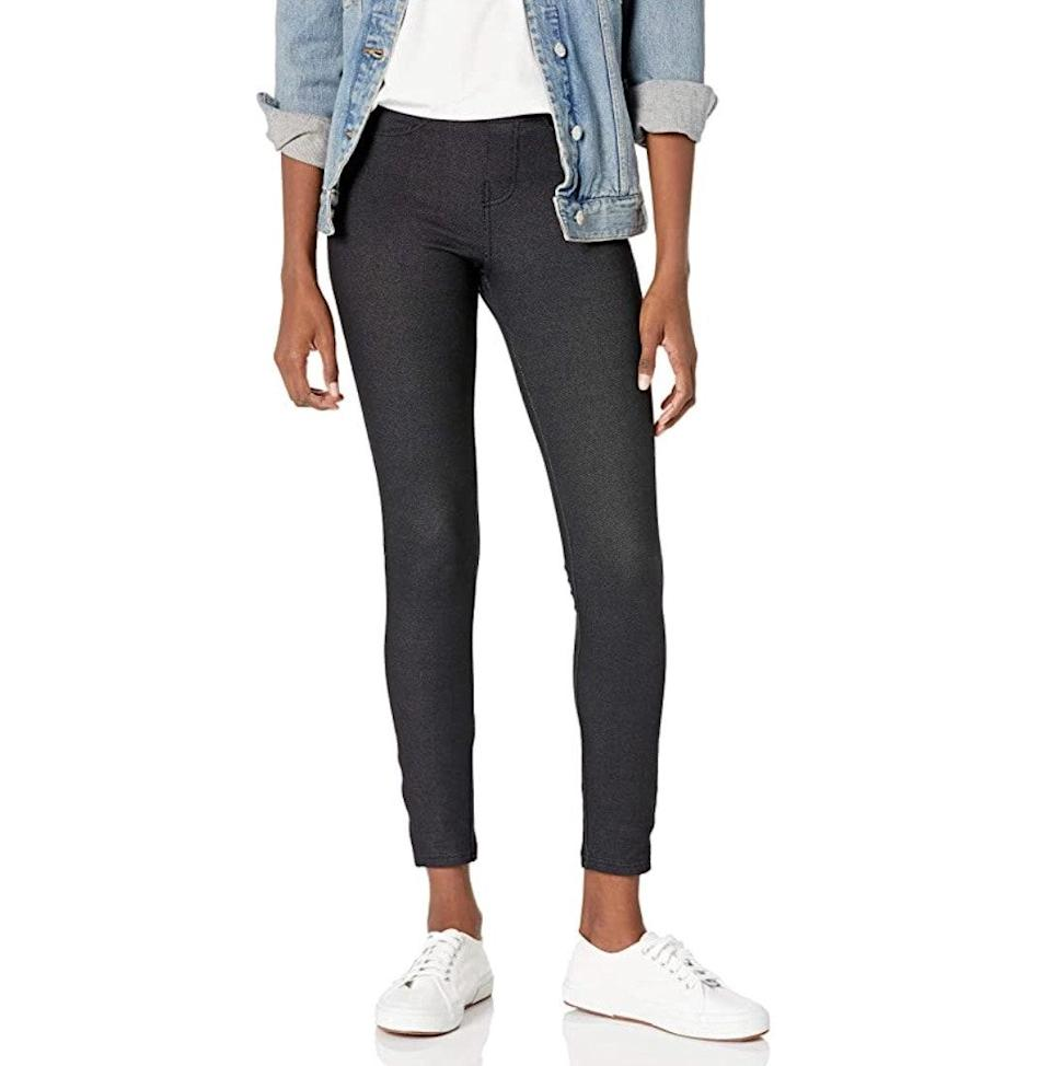 """<p><strong>Reviews & rating:</strong> 20,576 reviews, 4.3 out of 5 stars.</p> <p><strong>Key selling points:</strong> If you're looking for a pant that looks like denim but offers the comfort of a legging, your search ends with this $15 pair. Reviewers rave about the stretch, and many even wear them as postpartum pants. </p> <p><strong>What customers say:</strong> """"I just had a baby and was having a really hard time finding pants that were comfortable and actually fit. My maternity pants are now too big, and my pre-pregnancy pants are too small. I love skinny jeans, so I ordered these to give them a try. I love them! They fit just as expected. As I continue to lose the baby weight, I know these will still fit. If you are looking for something with an elastic waist but still want the denim look, these leggings are perfect!"""" —<a href=""""https://amzn.to/3e31jKM"""" rel=""""nofollow noopener"""" target=""""_blank"""" data-ylk=""""slk:Amy"""" class=""""link rapid-noclick-resp""""><em>Amy</em></a><em>, reviewer on Amazon</em></p> $15, Amazon. <a href=""""https://www.amazon.com/No-Nonsense-Womens-Legging-Denim/dp/B01HIK98UW/ref="""" rel=""""nofollow noopener"""" target=""""_blank"""" data-ylk=""""slk:Get it now!"""" class=""""link rapid-noclick-resp"""">Get it now!</a>"""