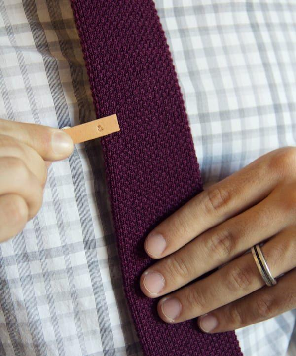 """<p>Customize this tie clip with your dad's initials, lucky number, or any word that describes him best.</p><p><strong>Get the tutorial at <a href=""""https://lovelyindeed.com/make-and-give-diy-stamped-leather-tie-clip/"""" rel=""""nofollow noopener"""" target=""""_blank"""" data-ylk=""""slk:Lovely Indeed"""" class=""""link rapid-noclick-resp"""">Lovely Indeed</a>.</strong></p><p><strong><a class=""""link rapid-noclick-resp"""" href=""""https://www.amazon.com/TEKTON-6610-32-Inch-Letter-36-Piece/dp/B000NPUKY8/?tag=syn-yahoo-20&ascsubtag=%5Bartid%7C10050.g.1171%5Bsrc%7Cyahoo-us"""" rel=""""nofollow noopener"""" target=""""_blank"""" data-ylk=""""slk:SHOP STAMPS"""">SHOP STAMPS</a><br></strong></p>"""