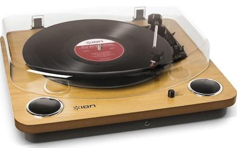 ION Max LP Belt Drive Turntable Wood Best Valentine's Day gifts for him