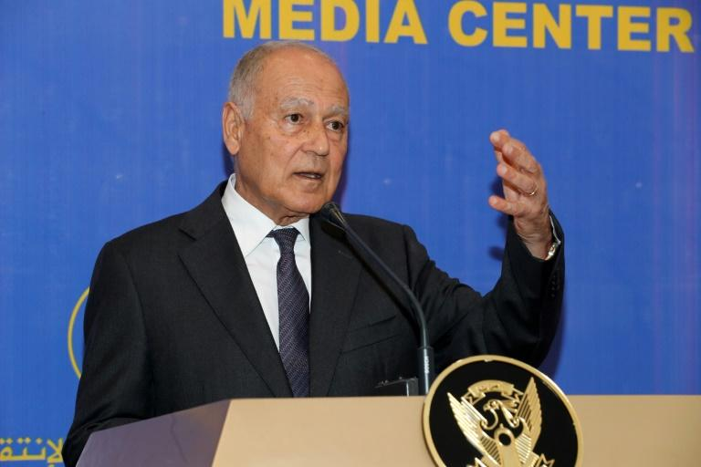 Arab League Secretary General Ahmed Aboul Gheit, seen here in June 2019, greeted Syria's foreign minister while visiting the United Nations