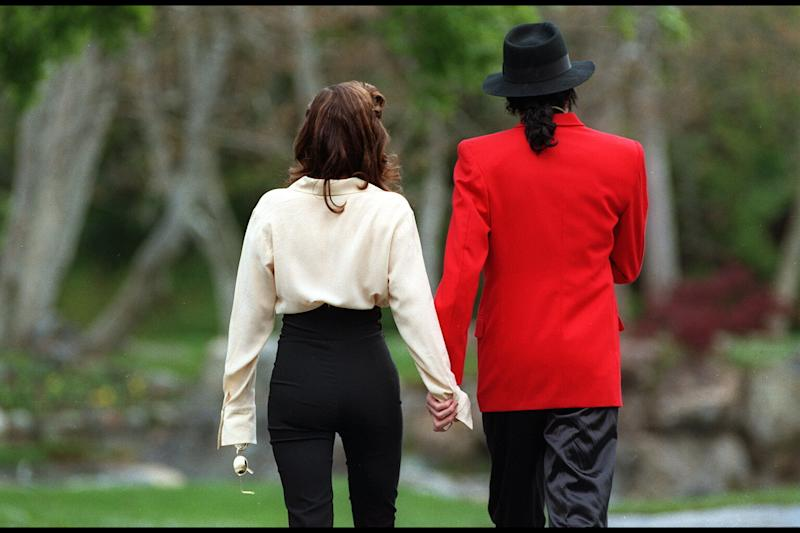 MICHAEL JACKSON AND LISA MARIE PRESLEY IN NEVER LAND (Photo by Kim Kulish/Sygma via Getty Images)