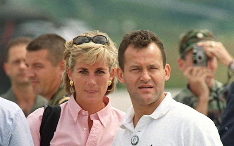 Diana, Princess of Wales, with her butler Paul Burrell - Tim Rooke/REX FEATURES