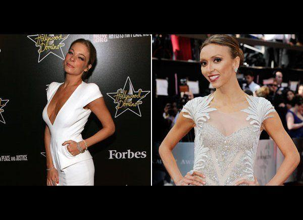 "LeAnn Rimes is skinny -- so skinny that she has people worrying that she's not eating. The equally skinny Giuliana Rancic was one those people. Pot, meet kettle. The two skinny ladies battled it out <a href=""http://www.huffingtonpost.com/2011/08/30/leann-rimes-responds-giuliana-rancic_n_941579.html"" target=""_hplink"">telling each other to eat a sandwich. </a>"
