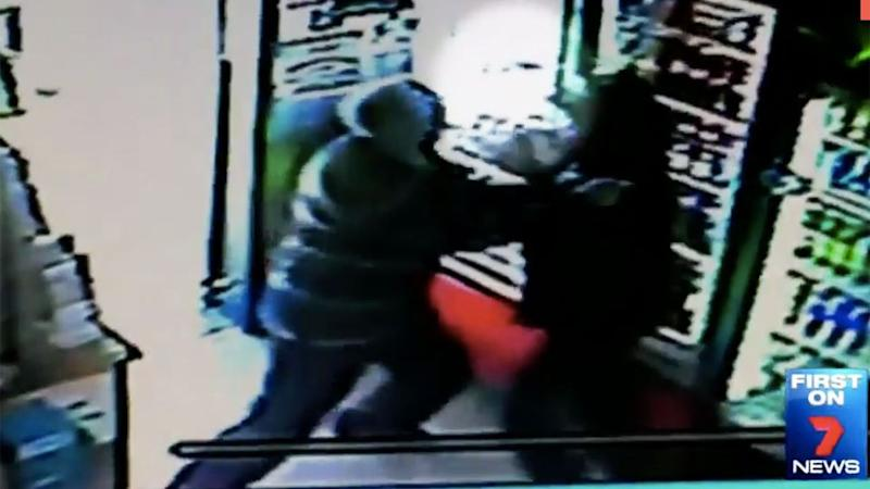 Mr Shaw heard screams come from inside the Glenfield convenience store and ran inside to help. Photo: 7 News