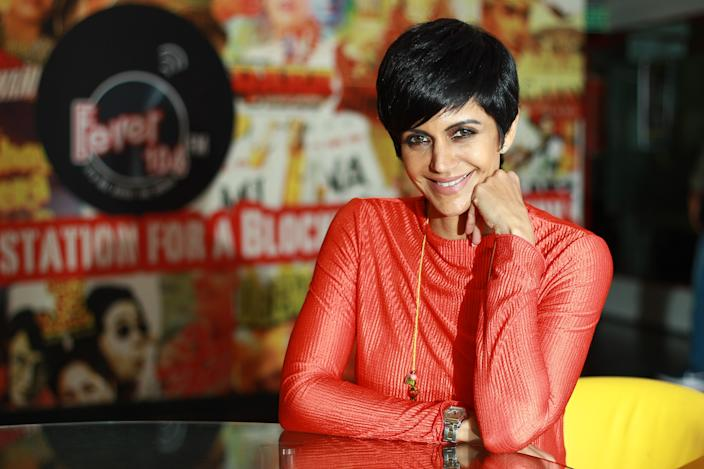 Mandira Bedi is one of the Bollywood celebrities who have spoken up about postpartum depression. (Photo by Shivam Saxena/Hindustan Times via Getty Images)