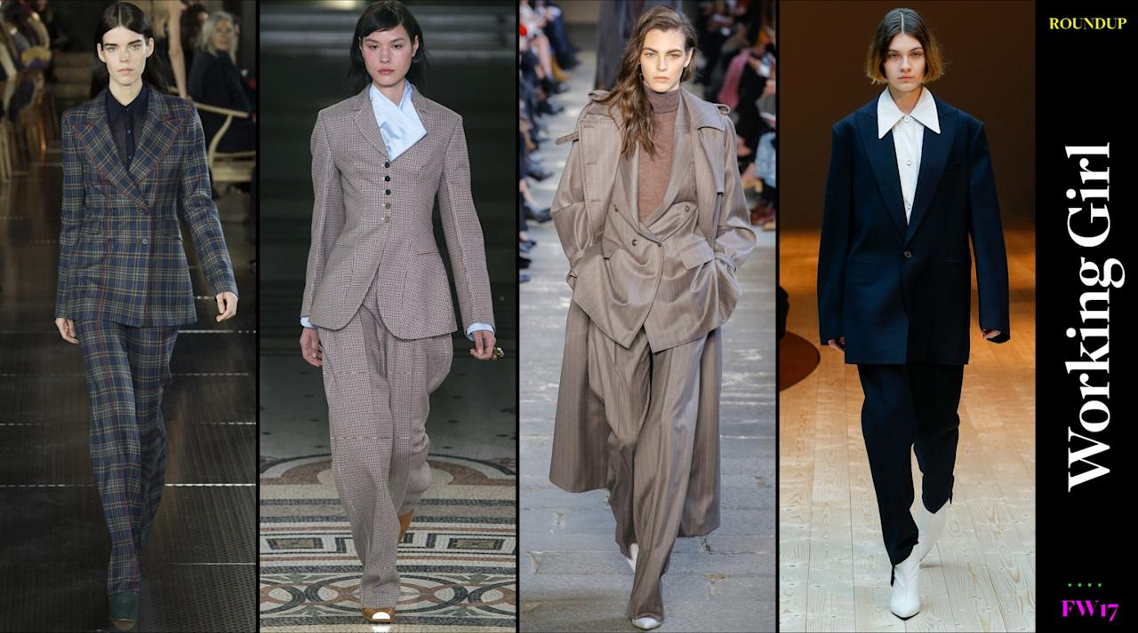 <p>A good suit is always in style. This fall, the pantsuit takes on a looser silhouette, so wearing a pantsuit should not feel stiff or stuffy but rather chic, empowering, and confident AF. </p>
