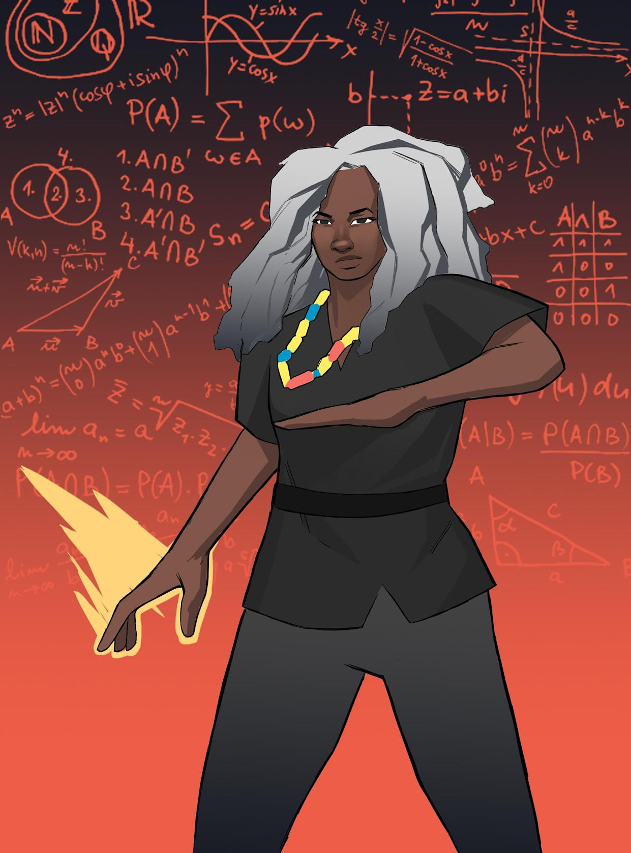 Scientist Dr Anne-Marie Imafidon also appears in the book (#Merky Books/AP)