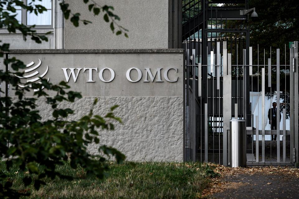 World Trade Organization headquarters on September 21, 2018 in Geneva. (Photo by Fabrice COFFRINI / AFP/Getty Images)
