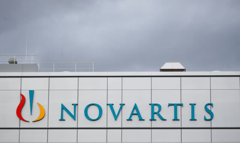 FILE PHOTO: Logo is seen at factory of Novartis in Stein, Switzerland