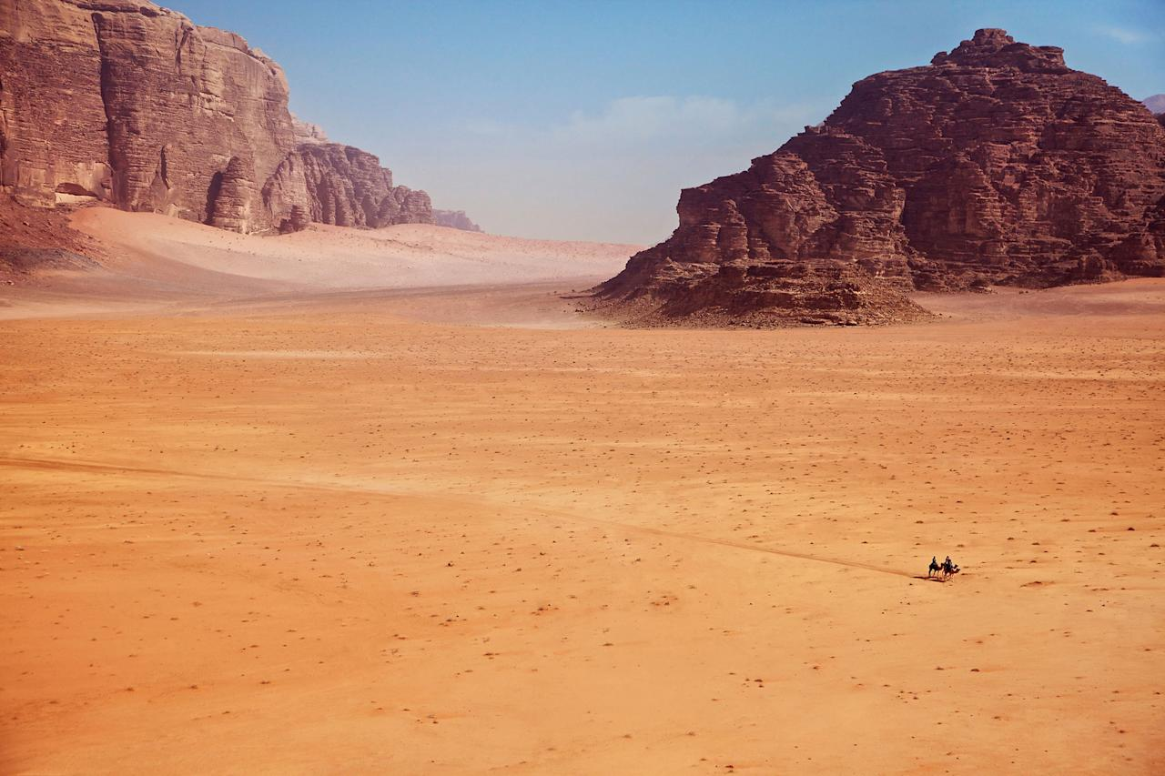 """<p>Another earthly landscape stands in for an alien one in this 2015 <a rel=""""nofollow"""" href=""""http://people.com/tag/matt-damon/"""">Matt Damon</a> film. Wadi Rum, or """"The Valley of the Moon,"""" in Jordan is a close match for the red planet. The region also makes a cameo in <em>Red Planet, Last Days on Mars, Lawrence of Arabia</em> and <em>Prometheus.</em></p>"""