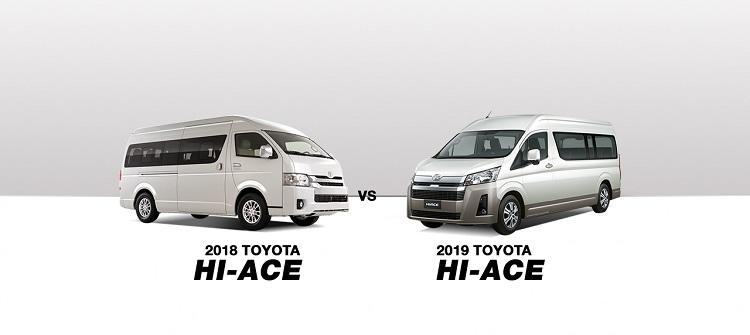 CAR COMPARISON: 2018 vs 2019 Toyota Hiace