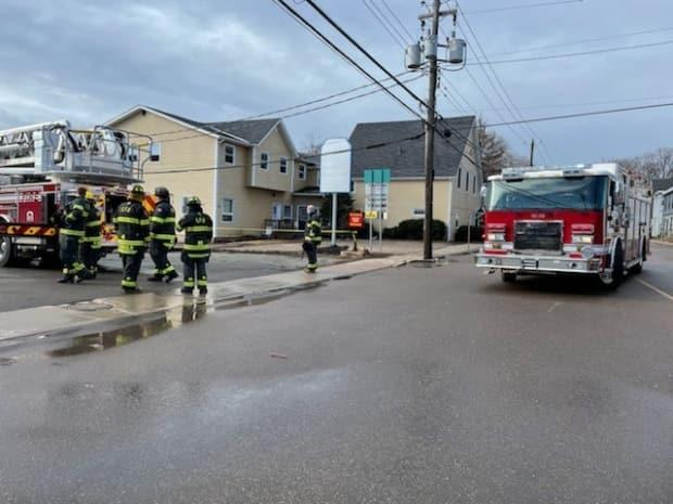 About 20 people were displaced after a fire on Euston Street in Charlottetown on Monday morning. (Tony Davis/CBC - image credit)