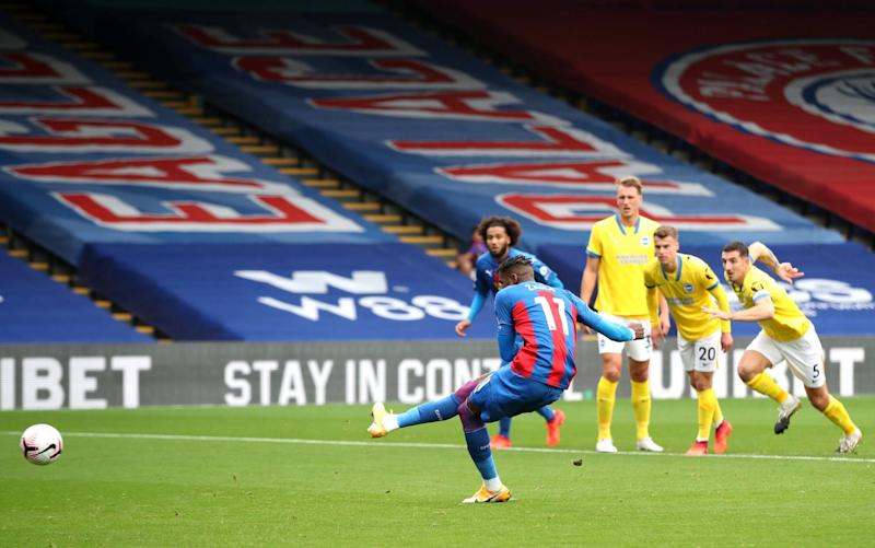 Wilfried Zaha of Crystal Palace opened the scoring from the spot - Pool/Getty Images