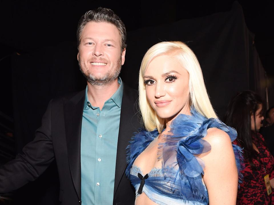 Blake Shelton and Gwen Stefani Getty Images