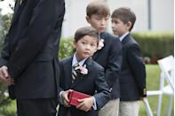 "<p>Reminder: Being a flower girl or ring bearer is already difficult for little ones. ""It's hard enough getting a toddler or little kid down the aisle with a job to do,"" says Porter. ""They don't need you taking their attention off the matter at hand, namely throwing those petals.""</p>"