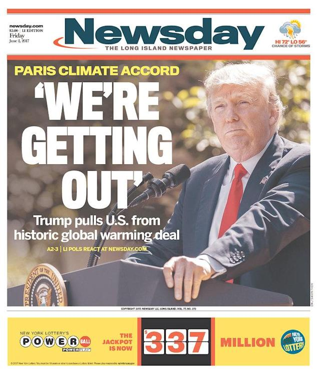 "<p>""Newsday,"" published in Long Island, N.Y. (Newseum) </p>"