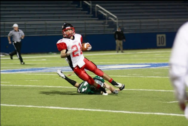 St. Paul running back Adam Hollenbach, who rushed for 8 touchdowns in a state title win — AdamHollenbach.com