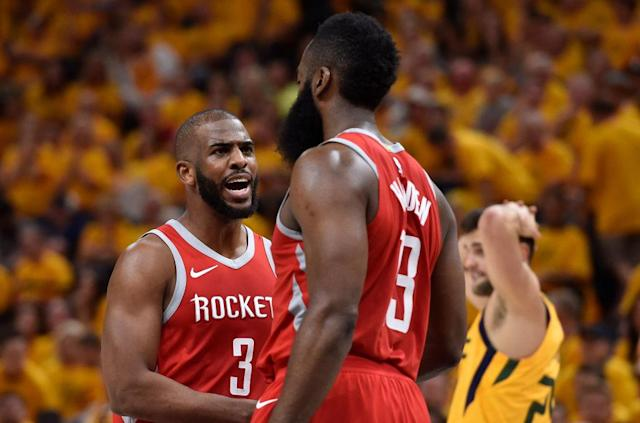 "The <a class=""link rapid-noclick-resp"" href=""/nba/teams/hou"" data-ylk=""slk:Houston Rockets"">Houston Rockets</a> got all they could out of James Harden and <a class=""link rapid-noclick-resp"" href=""/nba/players/3930/"" data-ylk=""slk:Chris Paul"">Chris Paul</a> last season, but they need more. (Getty Images)"