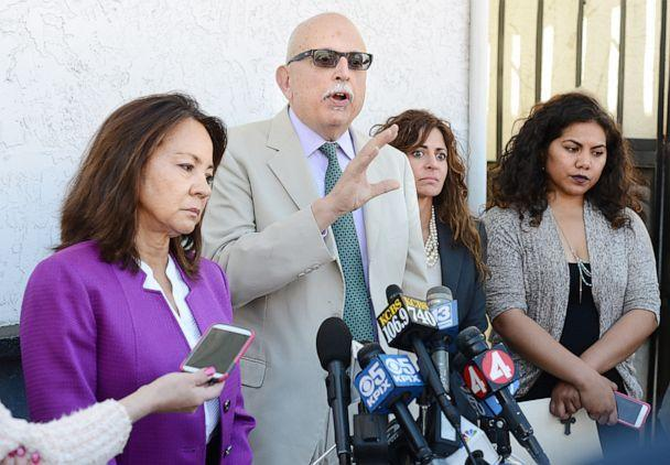 PHOTO: In this March 26, 2015, file photo, Amy Morton and Daniel Russo, attorneys for Aaron Quinn, state that their client was bound and drugged at the scene of the abduction and the $8,500 ransom was directed at him. (Vallejo Times Herald/MediaNews Group via Getty Images, FILE)