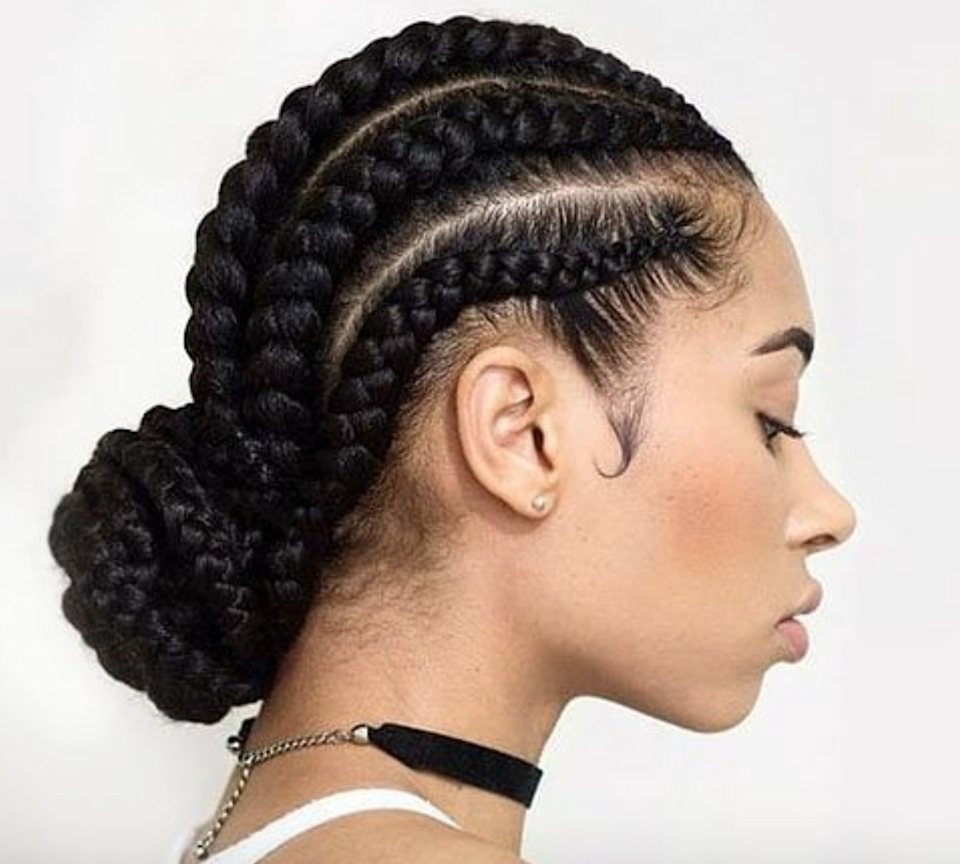 A low bun is always on trend. Slick your baby hairs too, if you're feeling fancy.