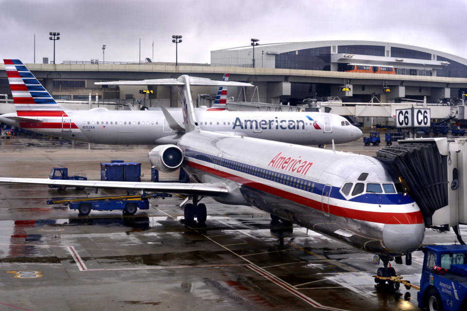 A passenger is alleging that an American Airlines flight attendant hit him in the face, according to a new lawsuit. (Photo: Getty Images)