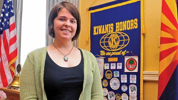 PHOTO: Kayla Mueller poses after speaking to a group in Prescott, Ariz., May 30, 2013. (Matt Hinshaw/The Daily Courier via AP)