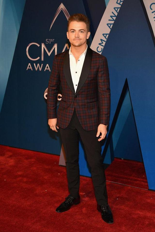 <p>The singer looks calm and cool in a plaid printed jacket, although he admitted to the Morning Breath that he usually downs a 5-Hour Energy before hitting the red carpet. (Photo: Getty Images) </p>