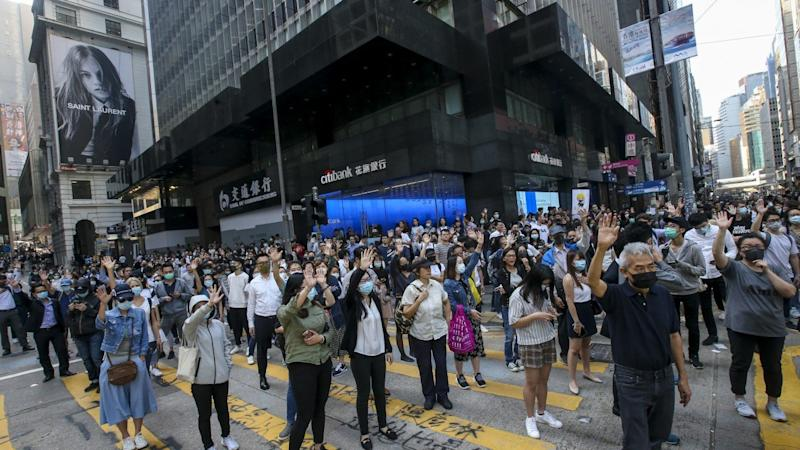 Hong Kong stocks post worst weekly performance in three months as protests turn more chaotic and violent