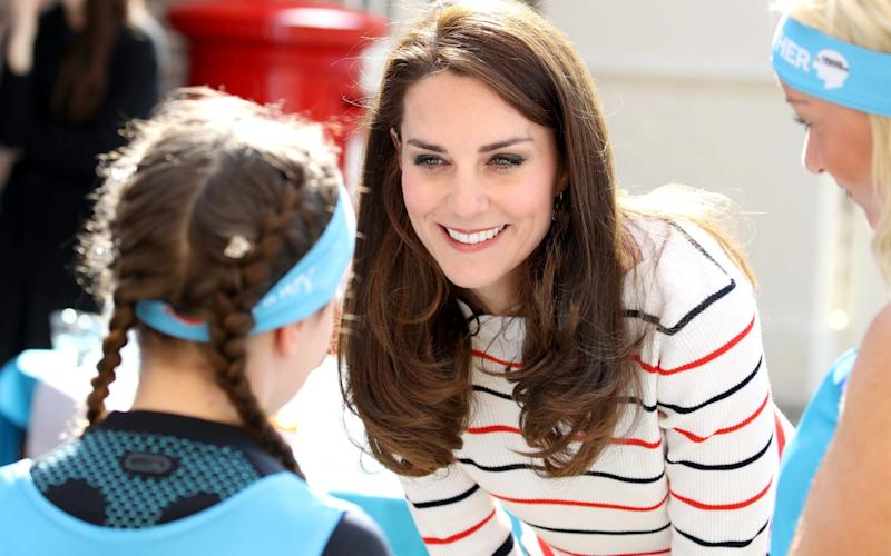 The Duchess of Cambridge meets Heads Together runners - Getty Images Europe