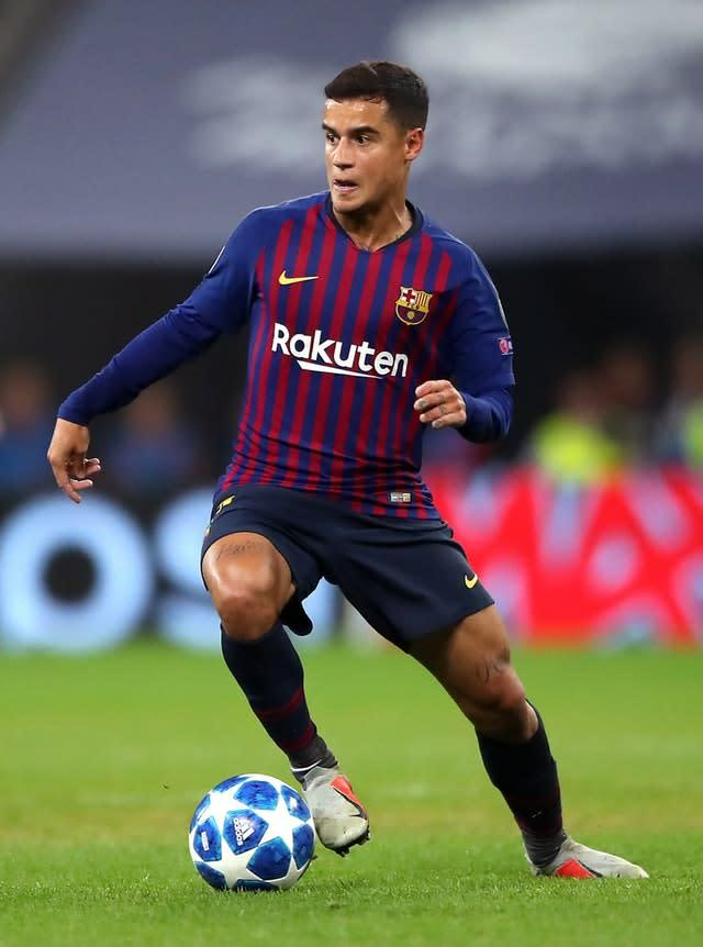 Philippe Coutinho is unlikely to return to Liverpool (Nick Potts/PA)