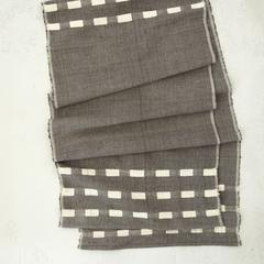 """<p><strong>Bolé Road Textiles</strong></p><p>boleroadtextiles.com</p><p><strong>$95.00</strong></p><p><a href=""""https://boleroadtextiles.com/collections/table-linens/products/allen-table-runner"""" rel=""""nofollow noopener"""" target=""""_blank"""" data-ylk=""""slk:Shop It"""" class=""""link rapid-noclick-resp"""">Shop It</a></p><p><a href=""""https://boleroadtextiles.com/"""" rel=""""nofollow noopener"""" target=""""_blank"""" data-ylk=""""slk:Bolé Road Textiles"""" class=""""link rapid-noclick-resp"""">Bolé Road Textiles</a> is a collection of modern textiles for the home, founded by Hana Getachew, formerly a prominent architect in New York City. Getachew's designs are designed in Brooklyn and handwoven in Ethiopia, featuring one-of-a-kind bath mats, curtains, rugs, wall hangings, and more. </p>"""