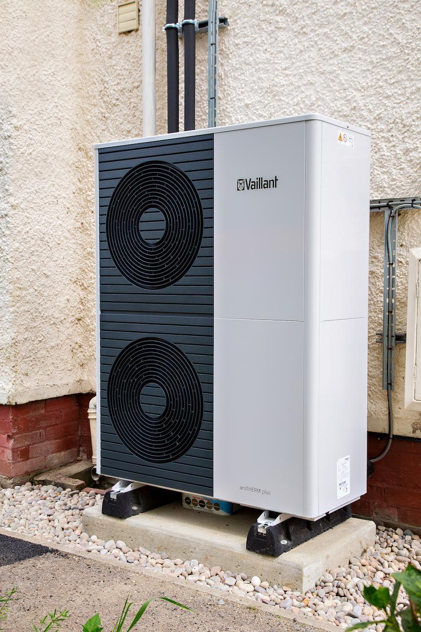 A double heat pump for heating a large home (Octopus Energy/PA)