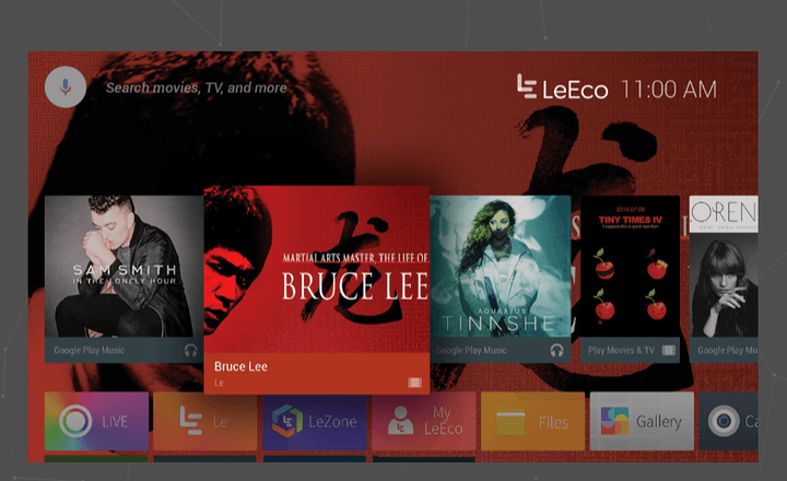 LeEco streaming