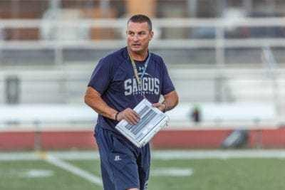 Jason Bornn of Saugus is The Times' coach of the year for the spring football season.