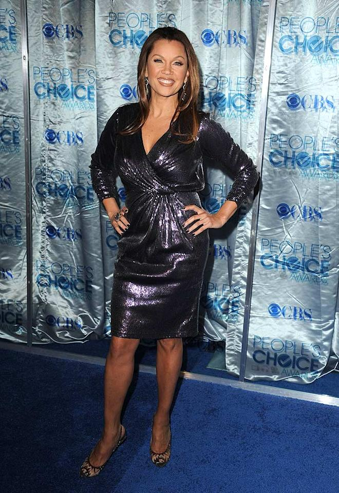 """Desperate Housewives"" hottie Vanessa Williams was dressed more appropriately for ""Skating with the Stars"" than Wisteria Lane thanks to this sparkly sack. Steve Granitz/<a href=""http://www.wireimage.com"" target=""new"">WireImage.com</a> - January 5, 2011"