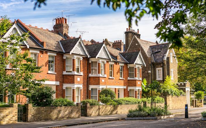 The average property price in the UK was pushed to a new record high for the fourth consecutive month. Photo: Getty Images