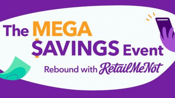 PHOTO: The logo for the Rebound With RetailMeNot Mega Savings Event is shown. (RetailMeNot)