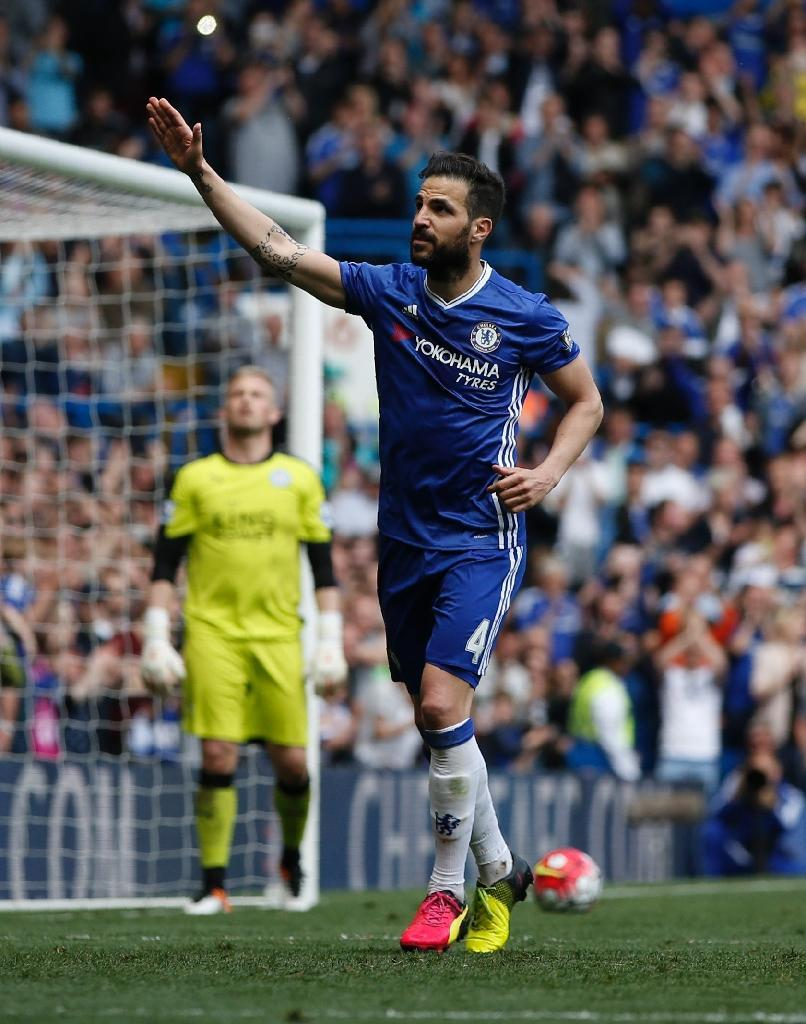 Cesc Fabregas put Chelsea ahead with a 66th-minute penalty (AFP Photo/Adrian Dennis)
