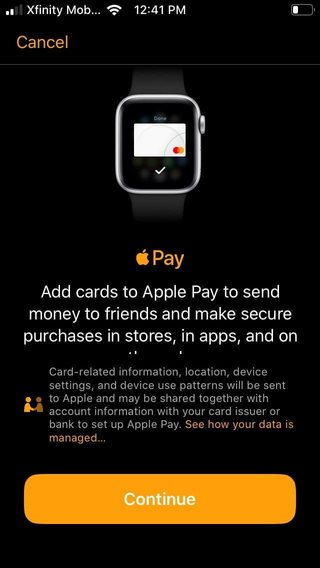 how to use apple pay watch7