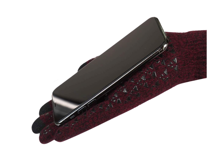The Trendoux Anti Slip Knit Touch Screen Gloves keep your phone securely in place. Image via Amazon.