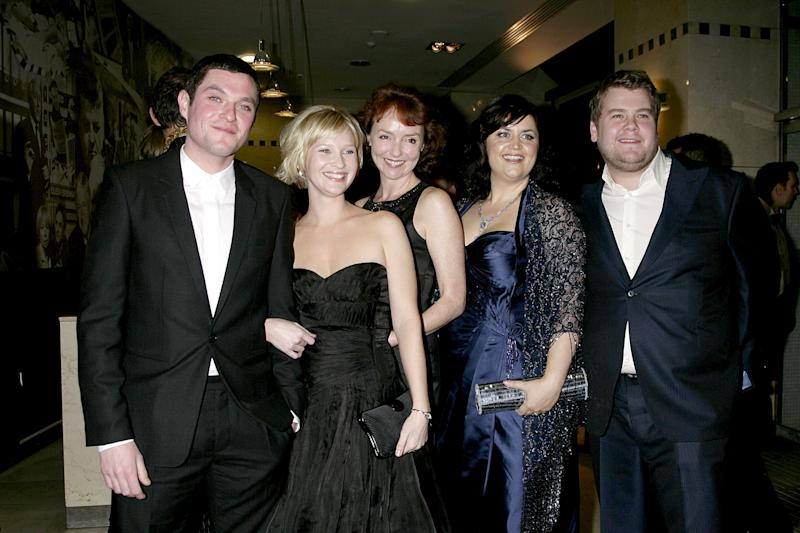 The cast of Gavin and Stacey (L-R) Mathew Horne, Joanna Page, Melanie Walters, Ruth Jones and James Corden arrive for the 2007 British Comedy Awards at The London Studios, Upper Ground, London, SE1. (Photo by Yui Mok - PA Images/PA Images via Getty Images)
