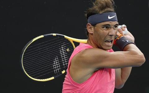 Nadal closes in on the victory - Credit: GETTY IMAGES