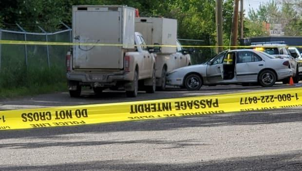 A man was shot by Prince George RCMP during an altercation after a traffic stop behind a downtown motor inn. Officials say he suffered life threatening injuries.