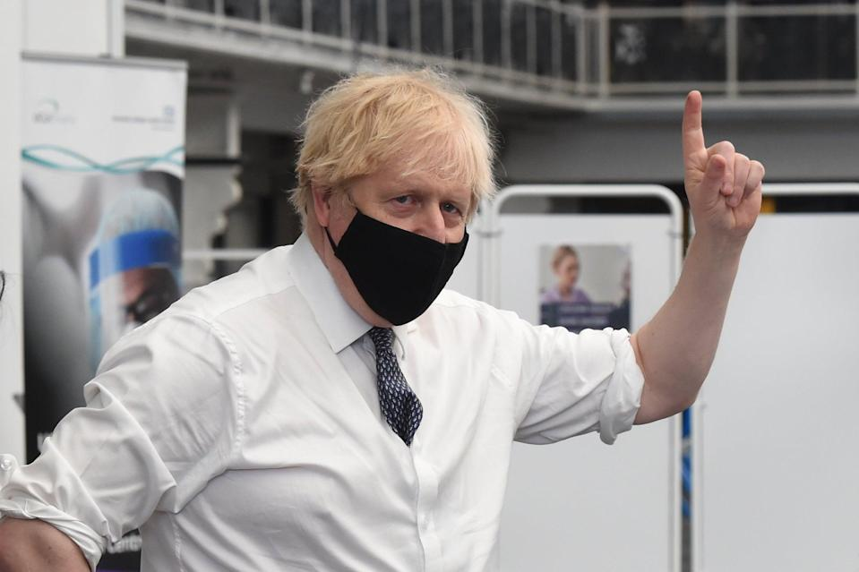 Boris Johnson visiting a Vaccination Centre at the Business Design Centre in IslingtonJeremy Selwyn